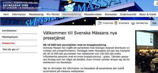 Svenska Mässan väljer Newsdesk