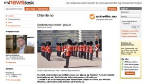 Orbville.no pressrum på MyNewsdesk.com