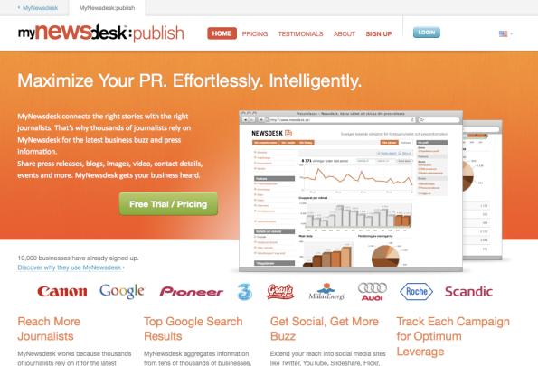 MyNewsdesk:Publish - PR-verktyget för bättre spridning och mer publicitet